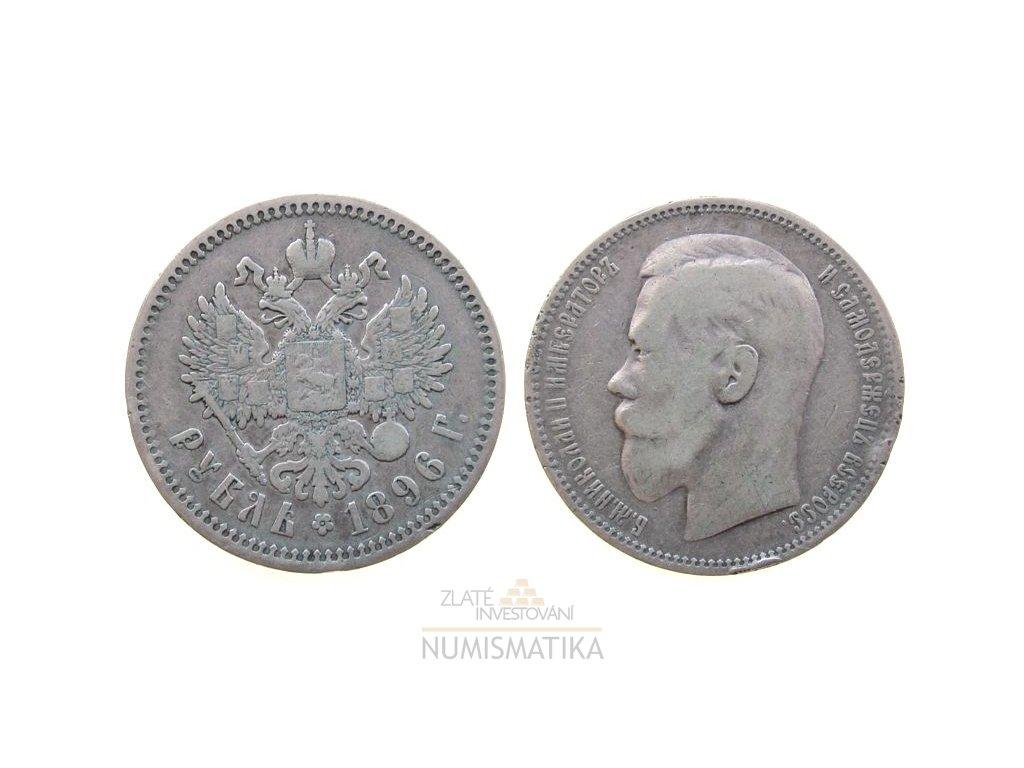 Stříbrný 1 rubl Mikuláš II. 1896