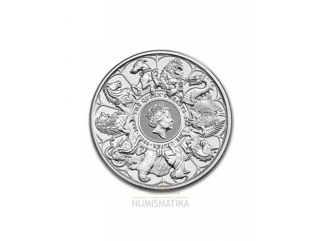 Stříbrná mince -heraldická série závěrečná mince 2 Oz-2021