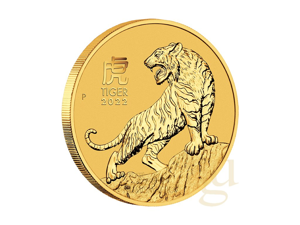 Zlatá mince rok tygra 2022-1 Oz -lunární série III.