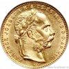 Zlatá mince Osmizlatník Františka Josefa I.-uherská ražba 1890 KB