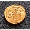 Zlatý Solidus Heraclius (610 -641 n.l.) - 3 Postavy - Byzanc