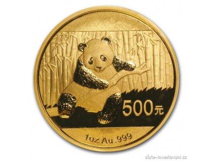 1916 investicni zlata mince cinska panda 2014 1 oz