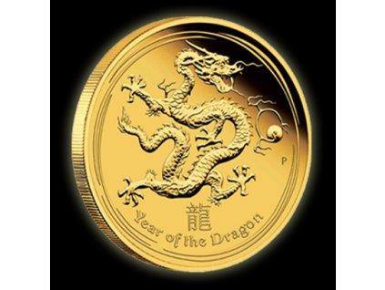Investiční zlatá mince rok draka 2012-lunární série II. 1 Oz