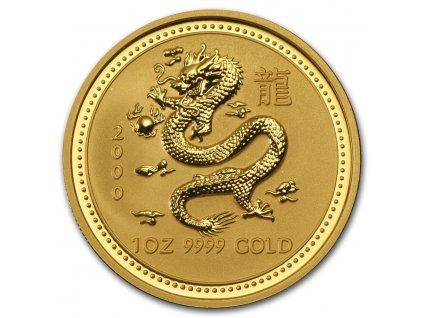 Investiční zlatá mince rok draka 2000 1 Oz