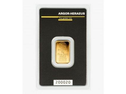 Investiční zlatý slitek Argor Heraeus 5g