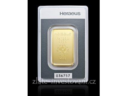 Investiční zlatý slitek Heraeus kinebar 20g