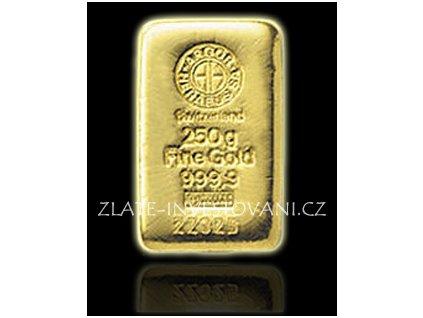 Investiční zlatý slitek Argor Heraeus 250g