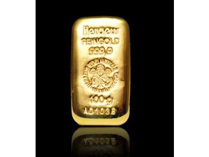 Investiční zlatý slitek Heraeus 250g