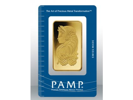 Investiční zlatý slitek PAMP Fortuna 100g