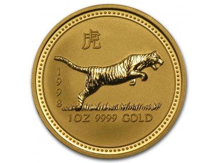 Investiční zlatá mince rok Tygra 1998 1/10 Oz