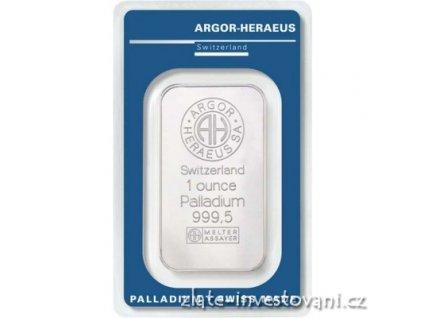 2441 investicni paladium cihla argor heraeus 1 oz