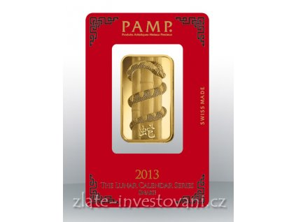 Investiční zlatý slitek PAMP Rok hada 2013 1 Oz