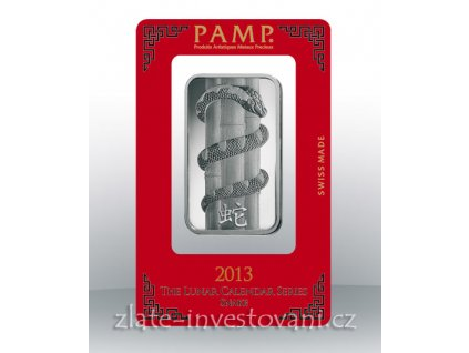 Investiční stříbrný slitek PAMP Rok hada 2013 1 Oz
