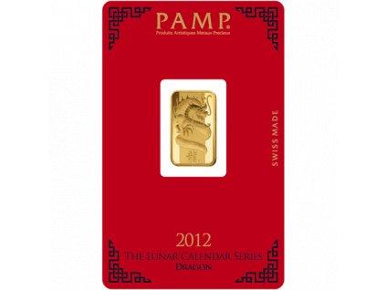 Investiční zlatý slitek PAMP Rok draka  2012 5g