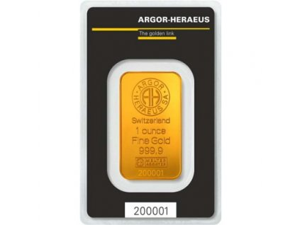 Investiční zlato - slitek Argor Heraeus 1 Oz