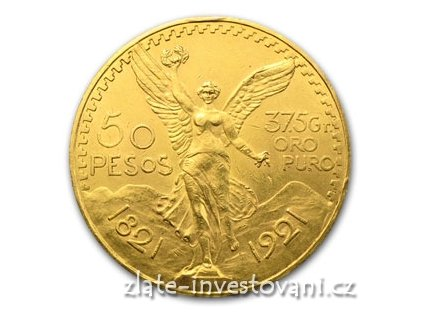 2570 zlata investicni mince mexicke 50 pesos centenario