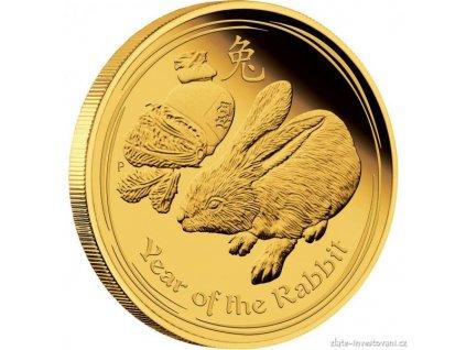 Investiční zlatá mince rok králíka 2011 1 Oz