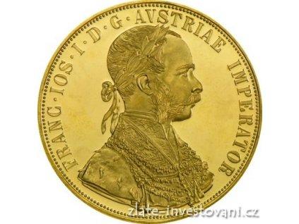 Zlatý rakouský Čtyřdukát-novoražba 1915
