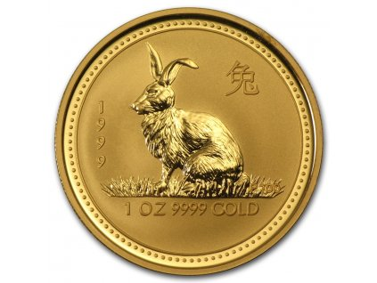 Investiční zlatá mince rok Králíka 1999 1 Oz