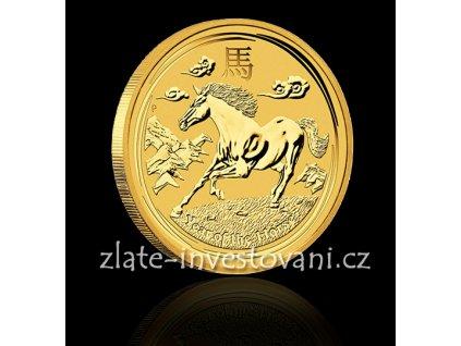 Investiční zlatá mince rok koně 2014 1 Oz