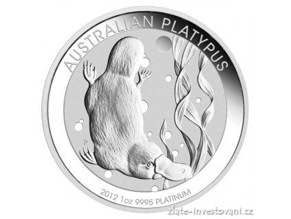 2816 investicni platinova mince ptakopysk australie 1 oz