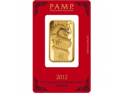Investiční zlatý slitek PAMP Rok draka 2012 1 Oz