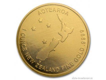 Investiční zlatá mince Kiwi-Nový Zéland 1 Oz