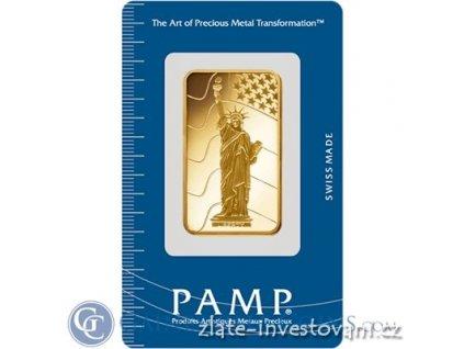 3026 investicni zlata cihla socha svobody pamp 1 oz