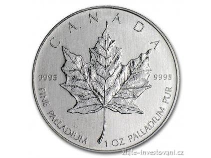 3074 investicni paladiova mince kanadsky maple leaf 1 oz