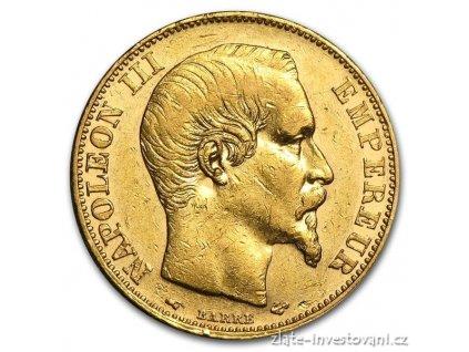 3434 zlaty francouzsky 100 frank napoleon iii 1857