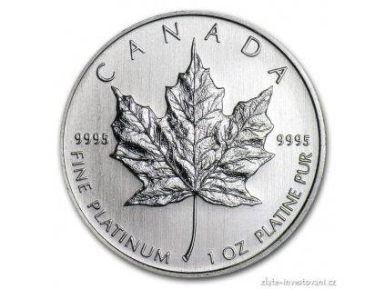 3674 investicni platinova mince kanadsky maple leaf 1 oz