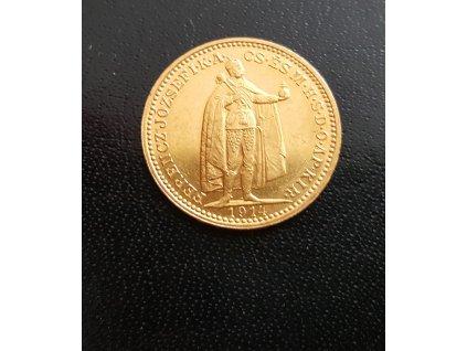 3692 zlata mince 20 koruna frantiska josefa i uherska razba 1914