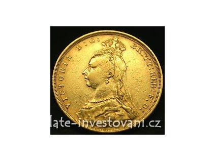 3728 investicni zlata mince britsky sovereign jubilejni kralovna victoria