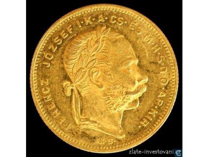 Zlatá mince Osmizlatník Františka Josefa I.-uherská ražba 1875