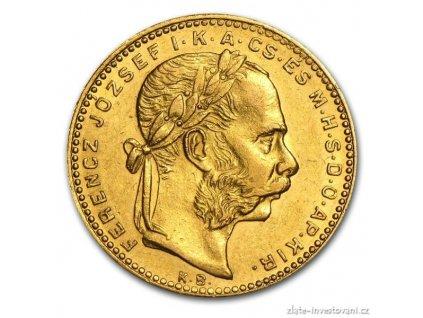 Zlatá mince Osmizlatník Františka Josefa I.-uherská ražba 1888