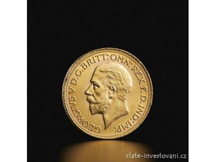 3770 zlaty britsky sovereign george v 1911 1932