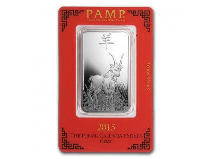 Investiční stříbrný slitek rok kozy 2015-PAMP 1 Oz