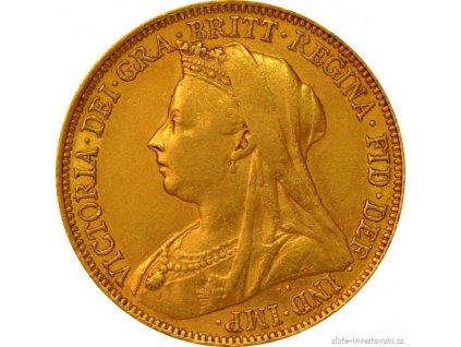 3857 investicni zlata mince britsky sovereign victoria1893 1903