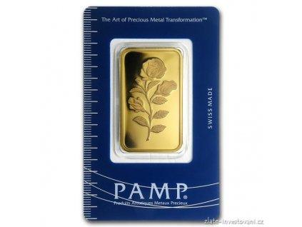 Investiní zlatý slitek 1 Oz Růže PAMP