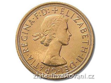 3908 investicni zlata mince britsky sovereign alzbeta ii 1957 1968