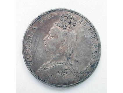 3938 stribrna britska koruna victoria 1889 crown