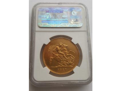 3941 1 zlata mince britska petilibra victoria 1887