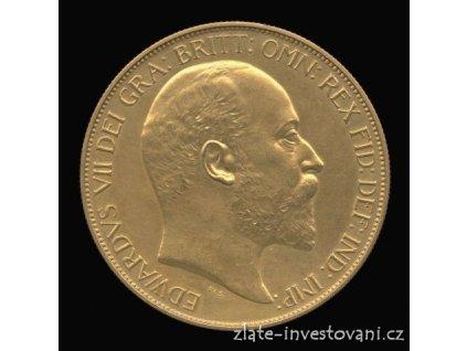 3950 zlata mince britska petilibra edward vii 1902