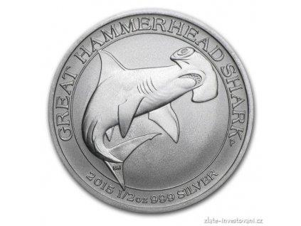 Investiční stříbrná mince Kladivoun 2015-Austrálie 1/2 Oz