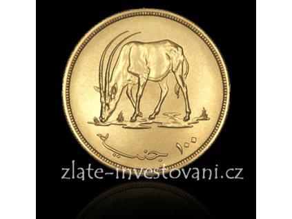 Zlatá mince antilopa Oryx-1976 Súdán