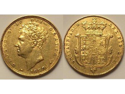 Britský zlatý Sovereign 1829-George IV.