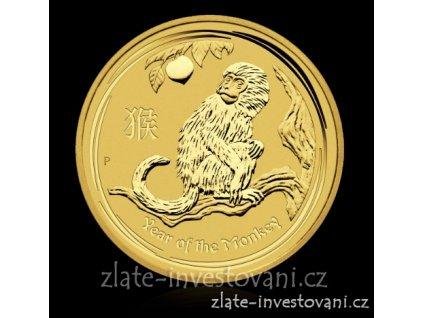 4187 zlata mince rok opice 2016 proof 1 10 oz