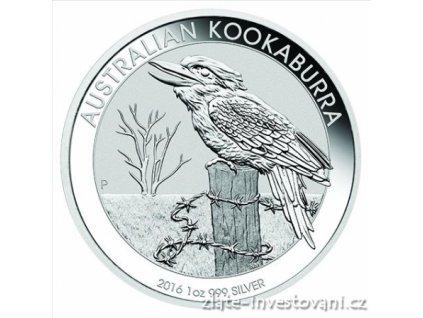 4355 investicni stribrna mince kookaburra 2016 1 oz