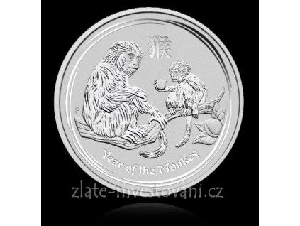 4406 investicni stribrna mince rok opice 2016 1 2 oz