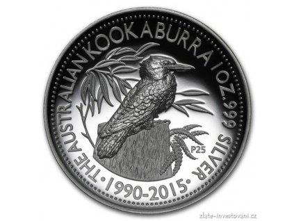 4601 stribrna mince australsky kookaburra 2015 vysoky relief proof 1 oz